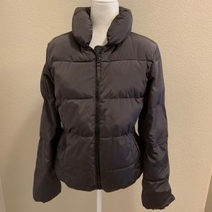 Gap Think Winter Puffer Bomber Jacket in Chocolate